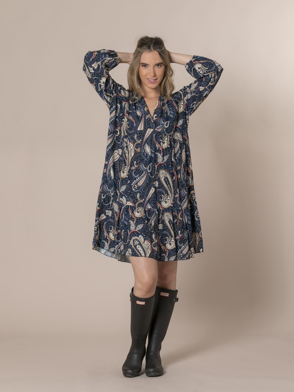 Vestido estampado etro Azul Marino
