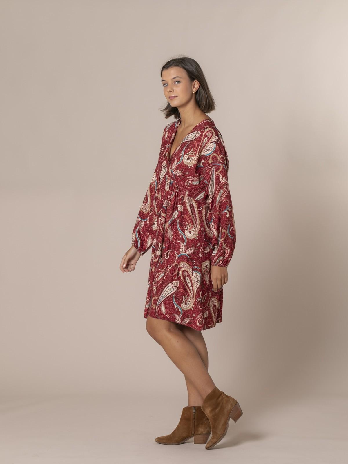 Vestido estampado etro Granate