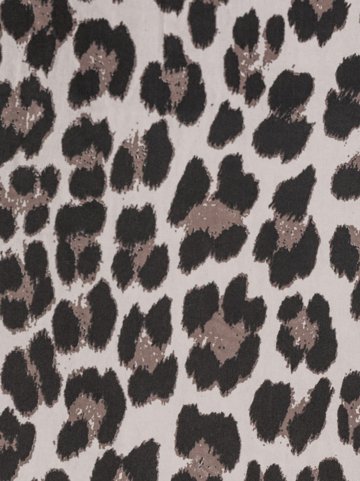 Woman Animal print button shirt Beige