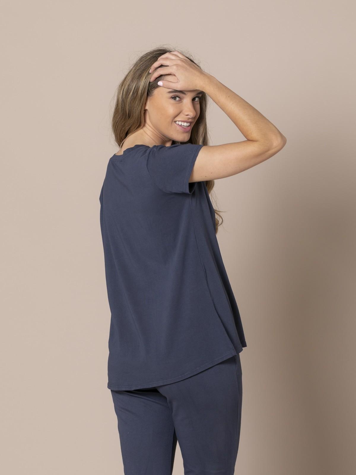 Camiseta mujer Ecofriendly Azul Marino