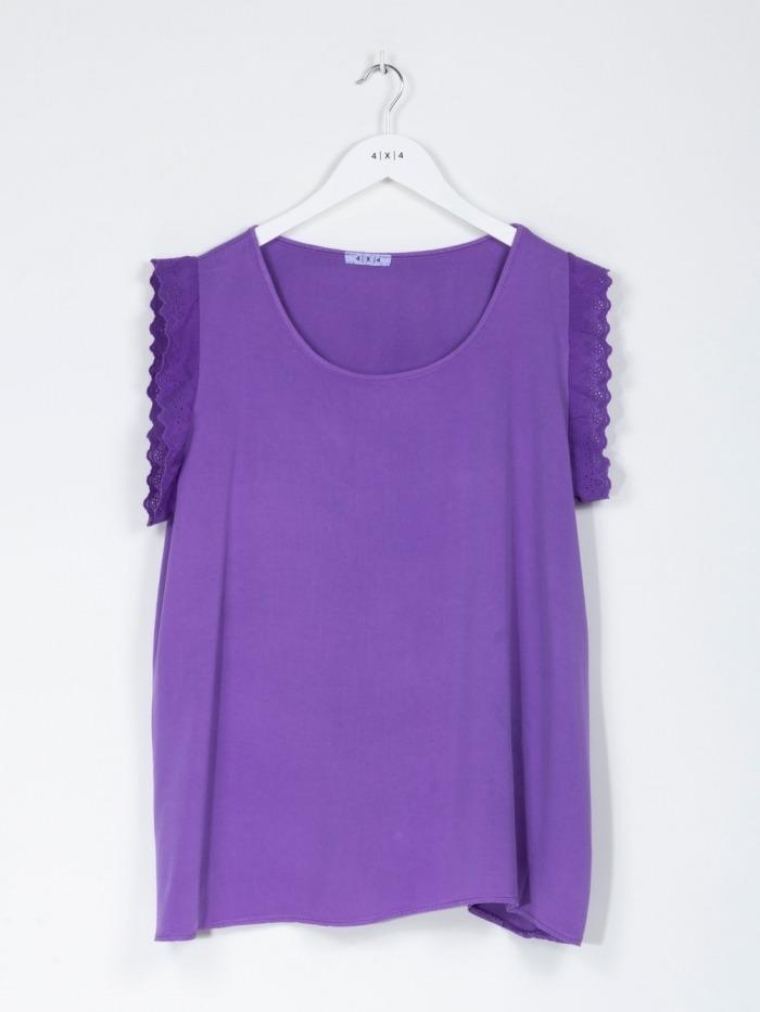 Camisa fluida mujer Violet