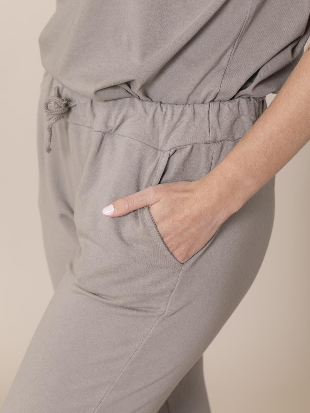 Pantalón mujer de felpa Piedra