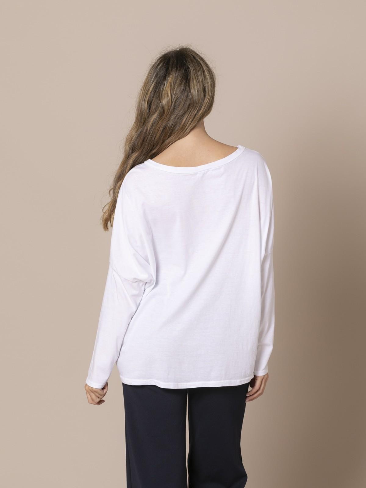 Woman 100% cotton oversize t-shirt White