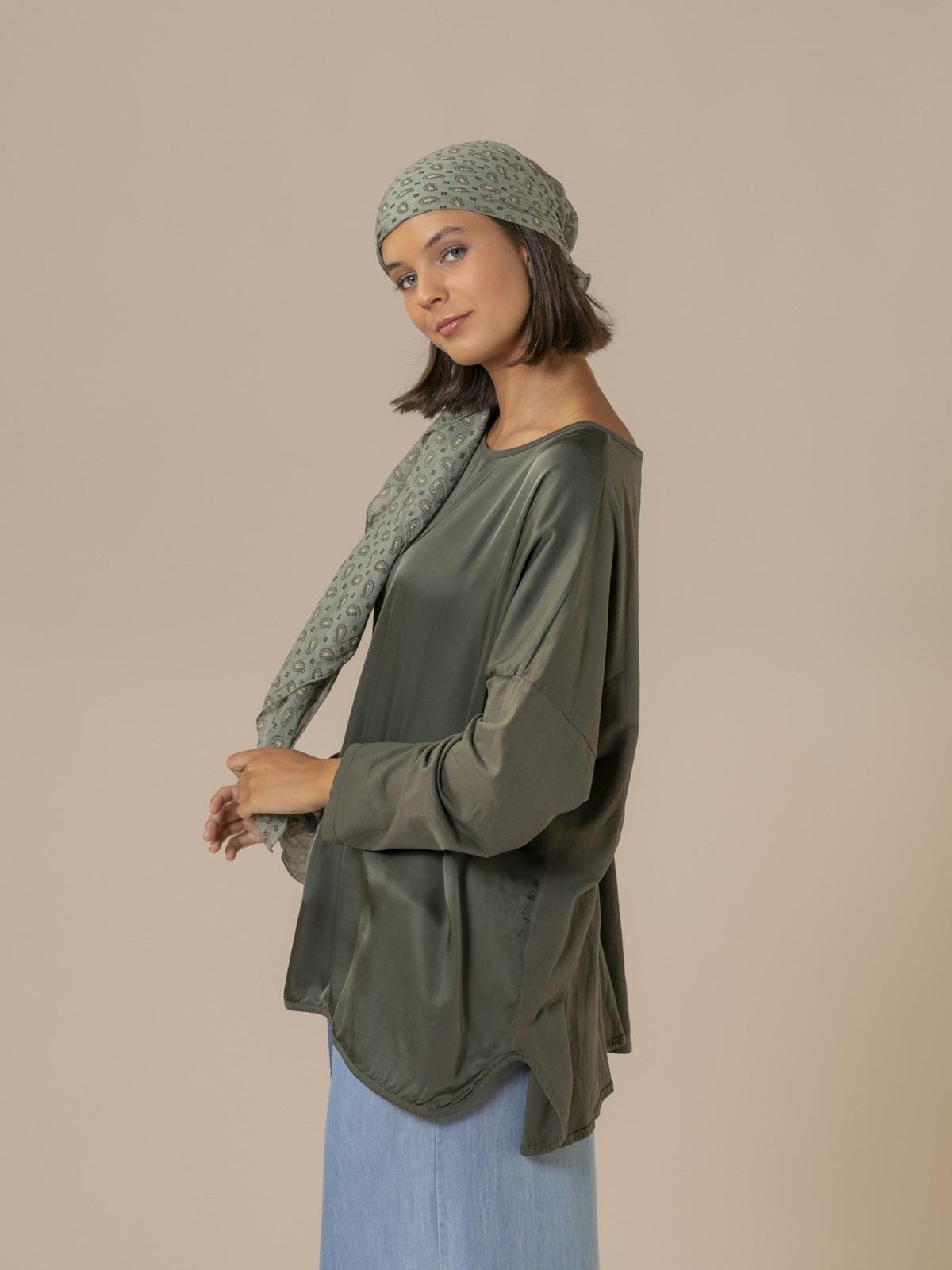 Woman Chic oversize t-shirt Khaki