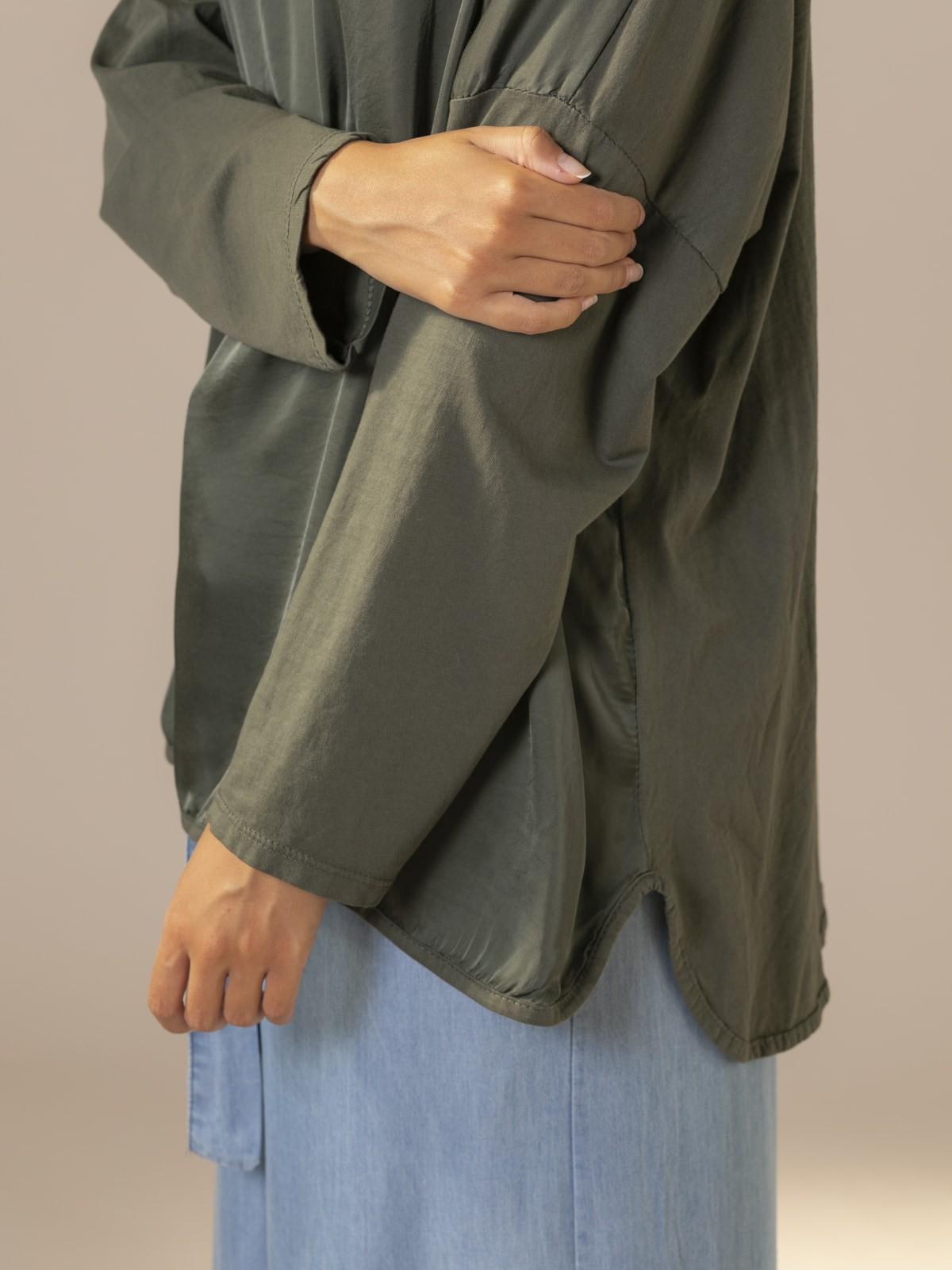 Camiseta mujer oversize chic Caqui