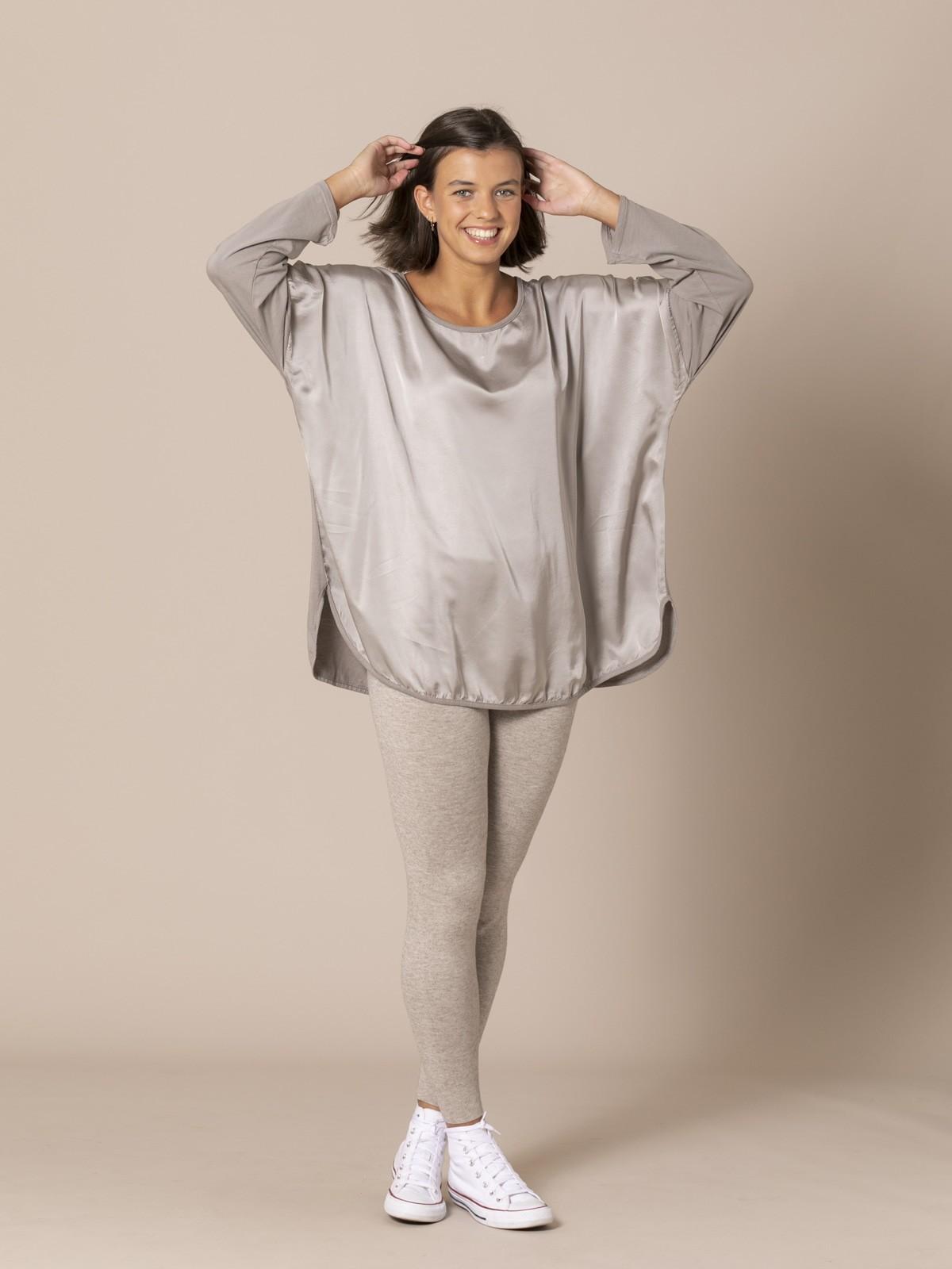 Woman Chic oversize t-shirt Stone