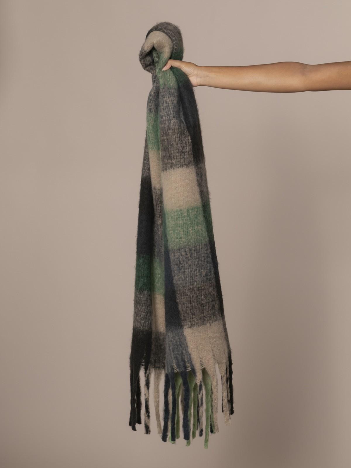 Bufanda de mujer cuadros soft Verde
