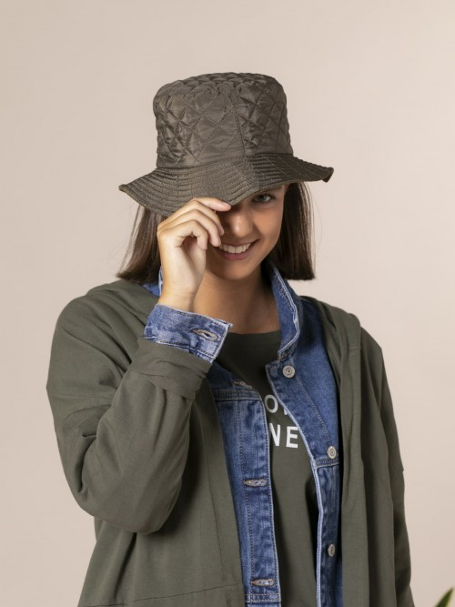 Woman Waterproof padded hat Khaki