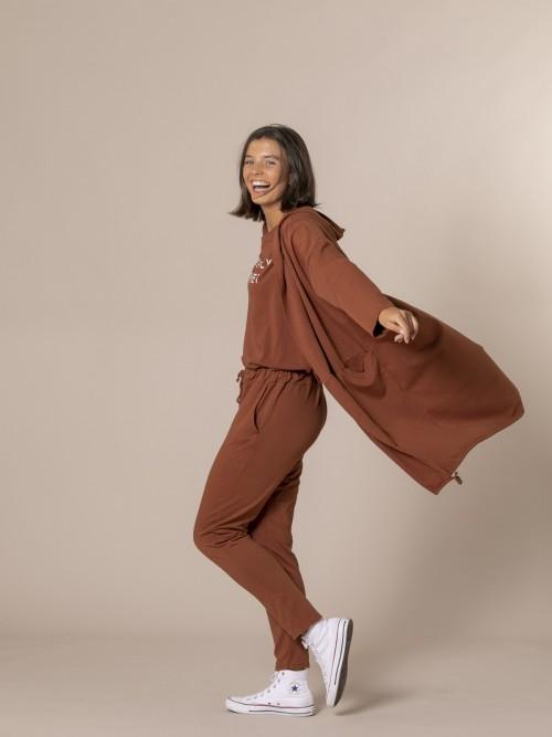 Woman Long casual jacket Tile