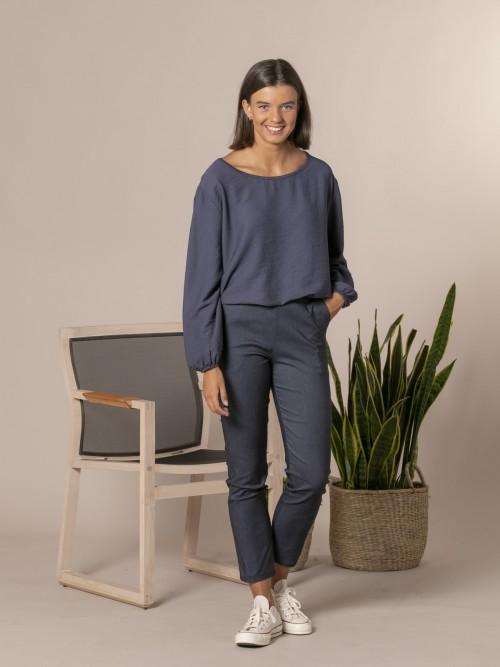 Pantalón jean mujer confort Azul Jean