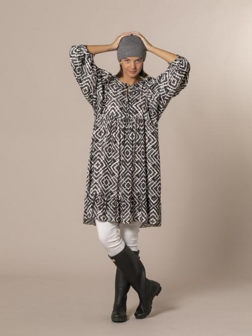 Woman Seventy print dress Black