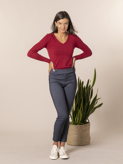 Woman Slim fit super cofort trousers Blue Jean