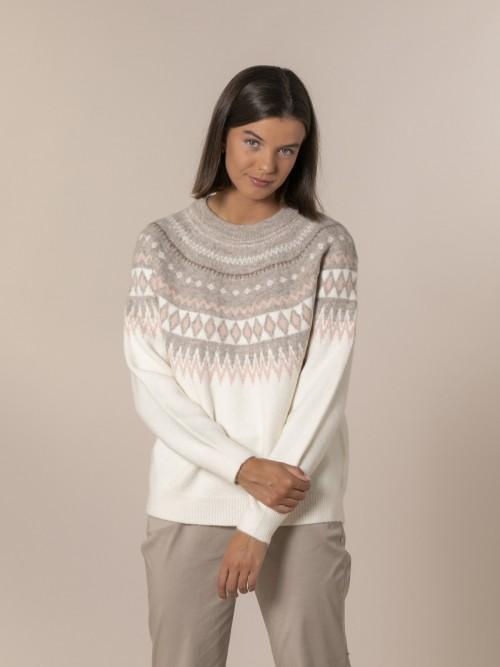 Woman Retro wide sweater Crudo