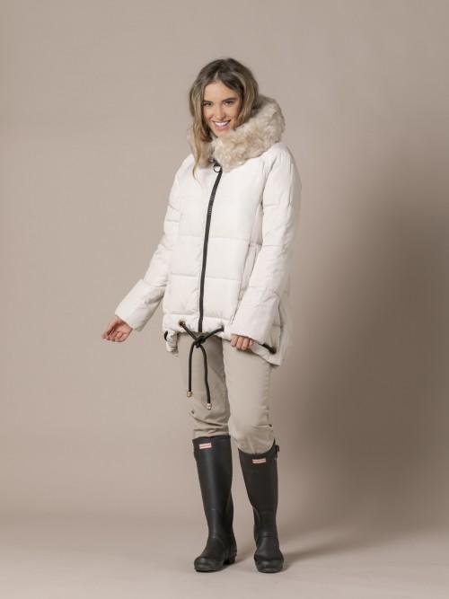 Woman Sport chic padded jacket White