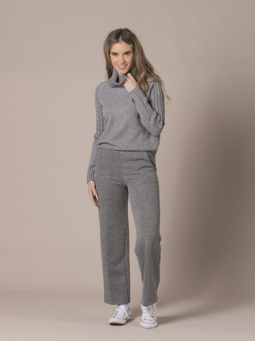 Woman Culotte trousers with pockets Grey Claro