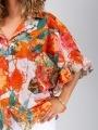 Camisa oversize volante brillo mujer