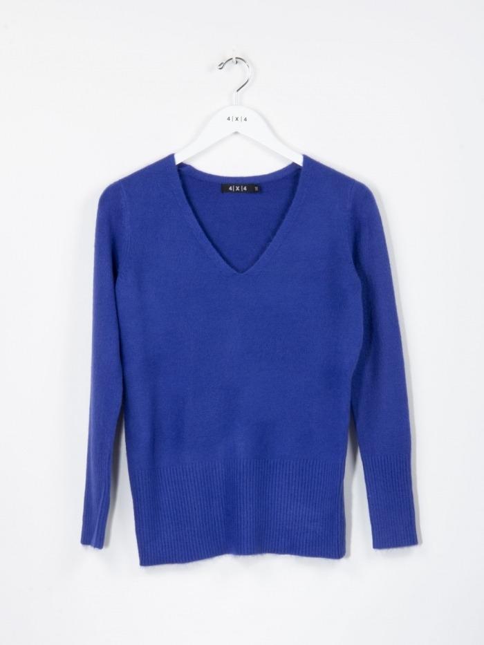 Women v-neck jumper Blue