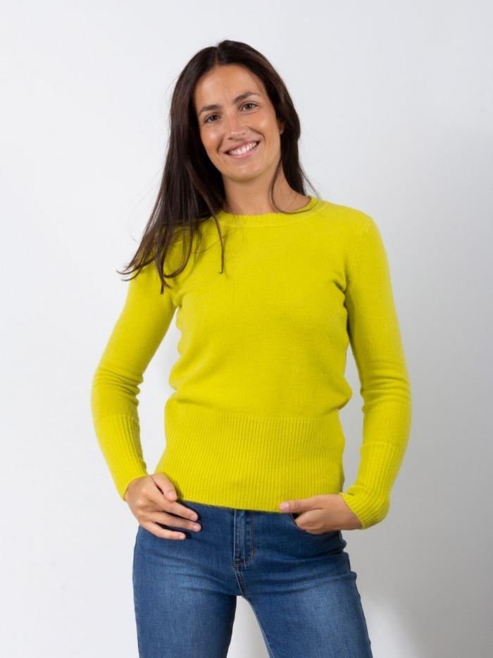 Jersey punto cuello redondo mujer Lima