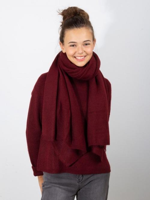 Bufanda punto grueso invierno mujer