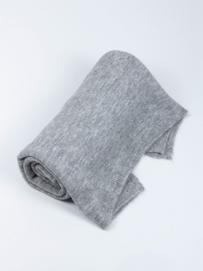 Women winter knitted scarf Grey
