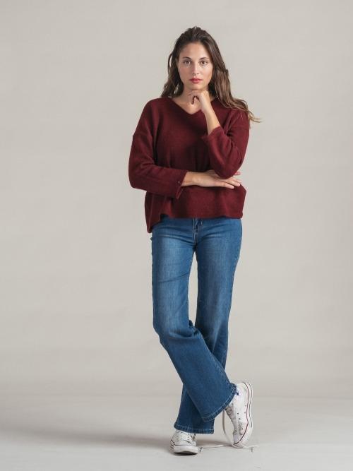 Pantalon vaquero wide leg mujer