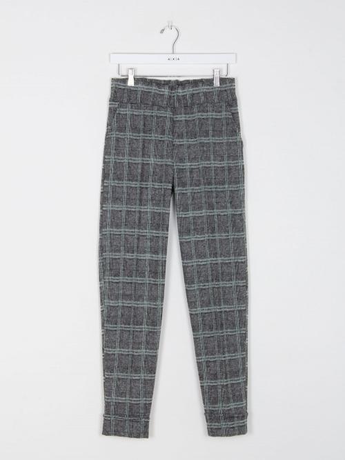 Pantalon vestir cuadros mujer