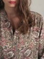 Camisa fluida estampada mujer