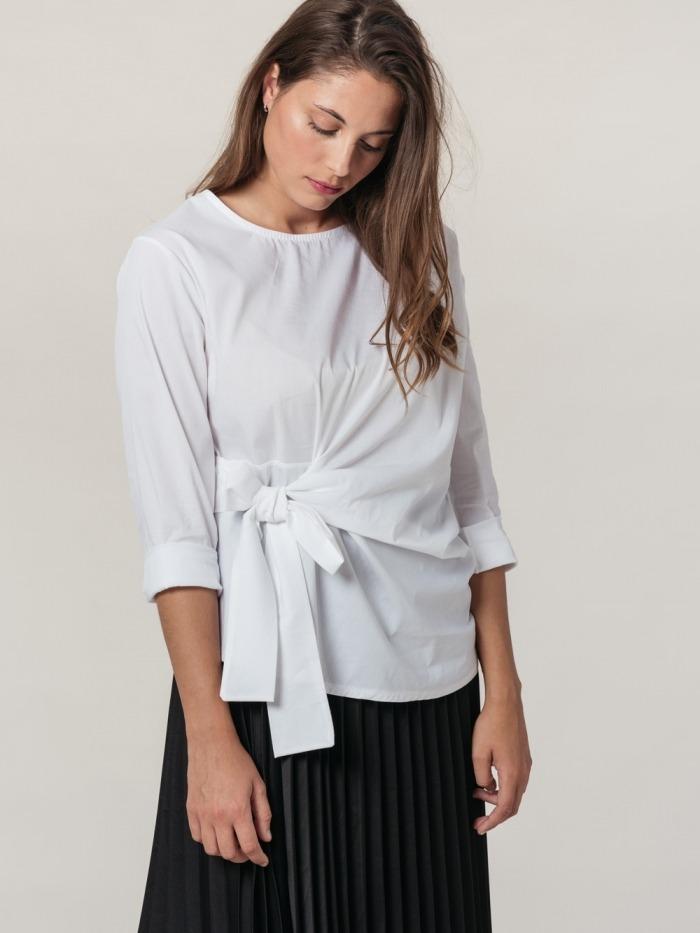 Camisa algodon popelin mujer