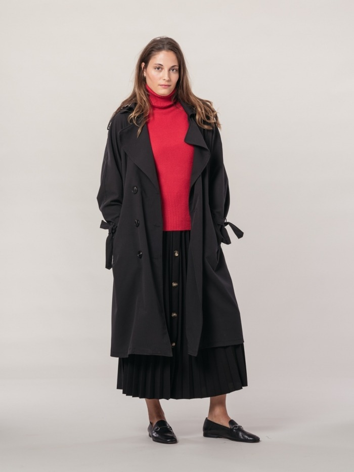 Trench largo mujer
