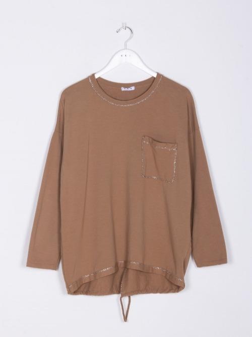 Jersey algodon detalle brillo mujer