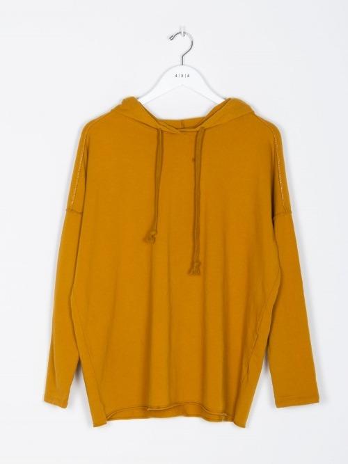Sudadera algodon con capucha mujer