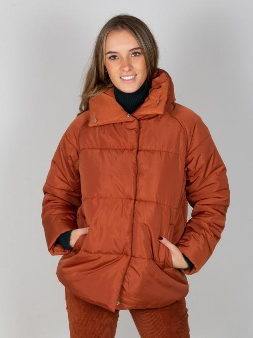 Abrigo parka acolchada lisa mujer