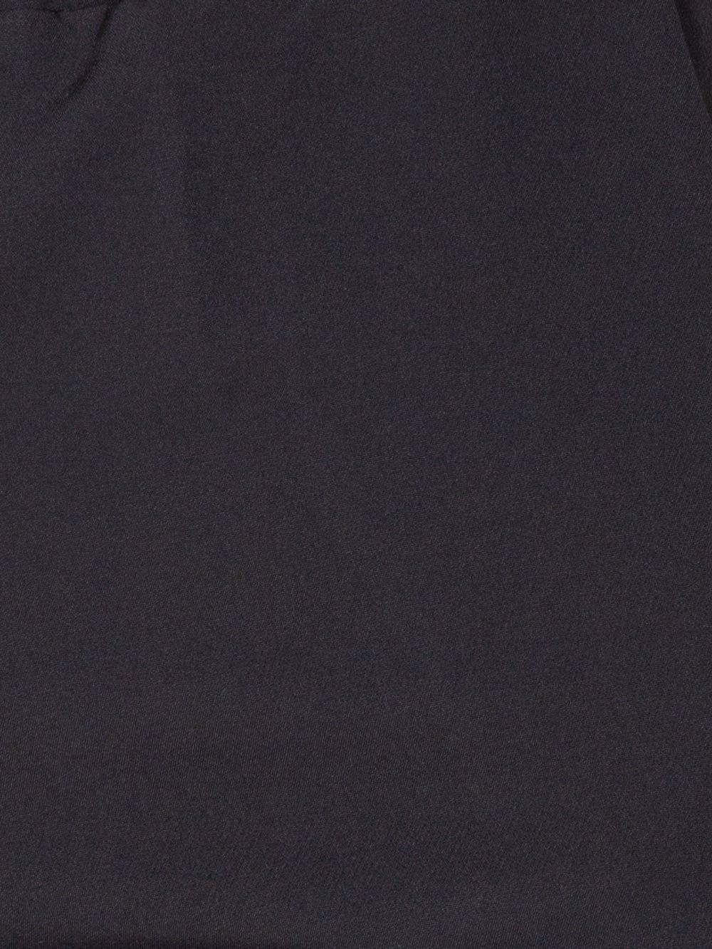 Woman wide leg elastic waist trousers Black