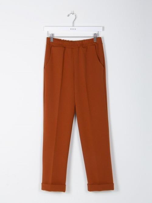 Pantalon wide leg cintura elastica