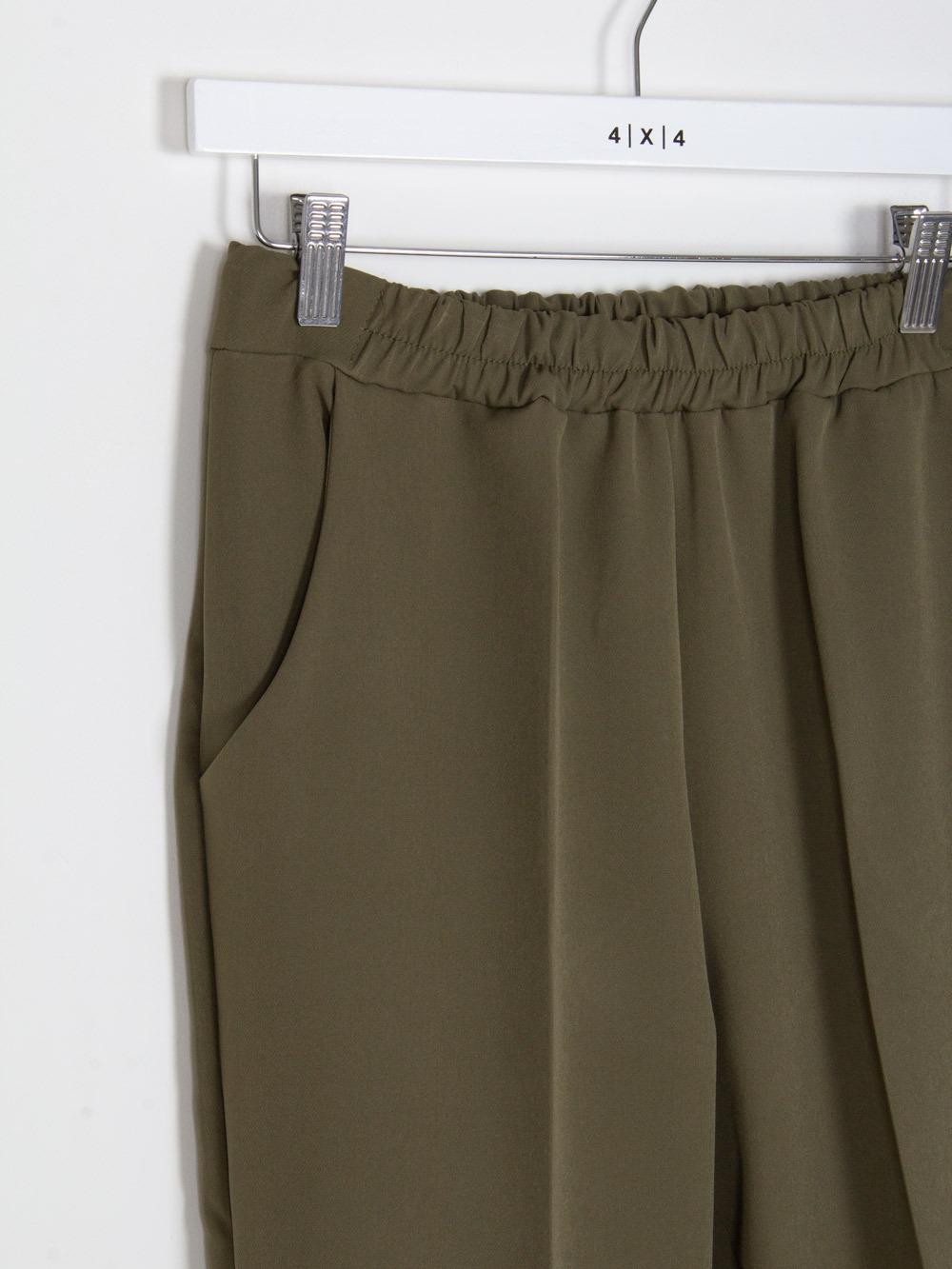 Woman Woman wide leg elastic waist trousers Khaki