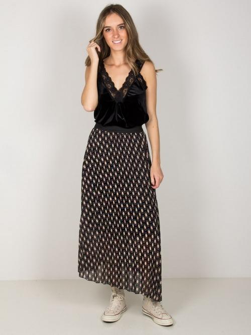 Falda larga geometrico mujer