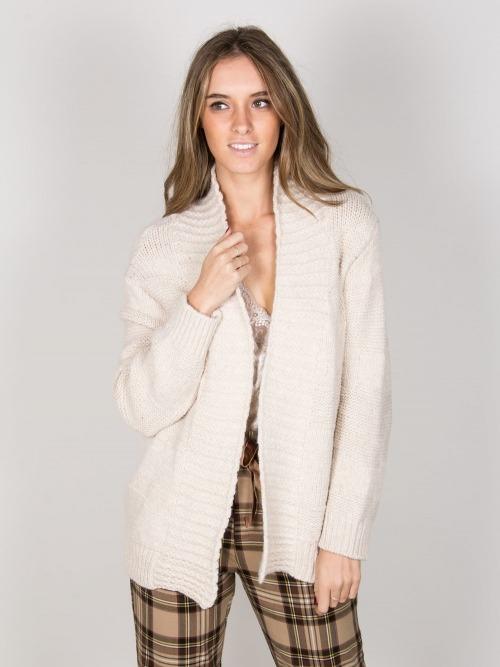 Chaqueta lana franjas mujer