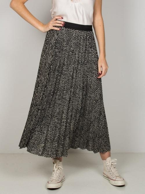 Falda larga plisada mujer