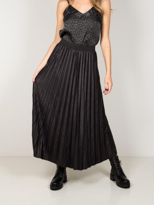 Falda larga ecopiel mujer