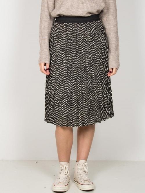 Falda midi plisada estampada