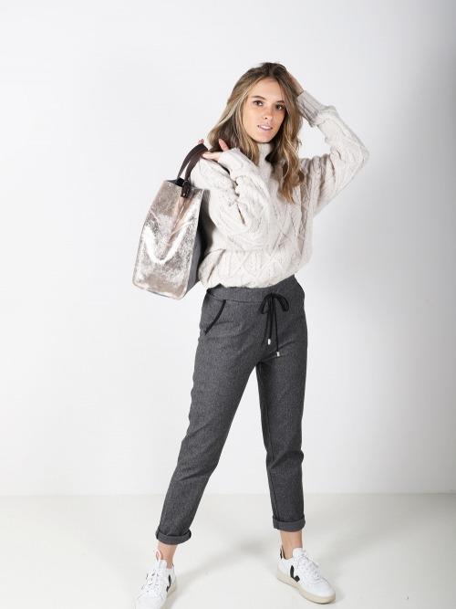 Pantalon espiga trendy mujer