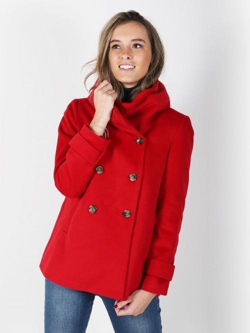 Abrigo corto pano mujer