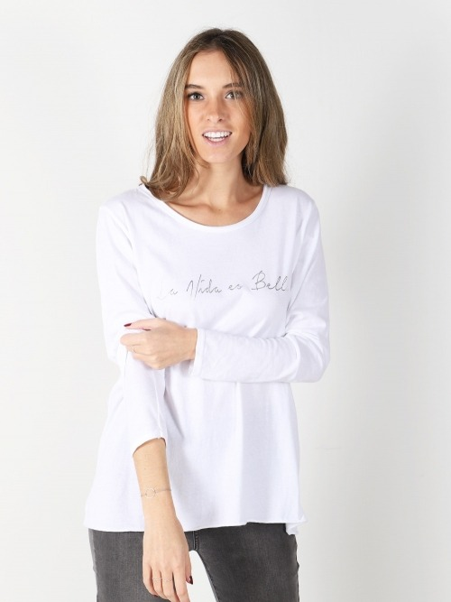 Camiseta algodon mensaje